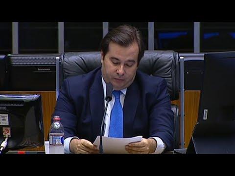Pronunciamento do presidente da Câmara, Rodrigo Maia