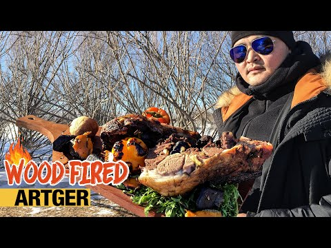 The ULTIMATE Mongolian Roasted Leg Of Lamb | WOOD-FIRED with BOLDOO
