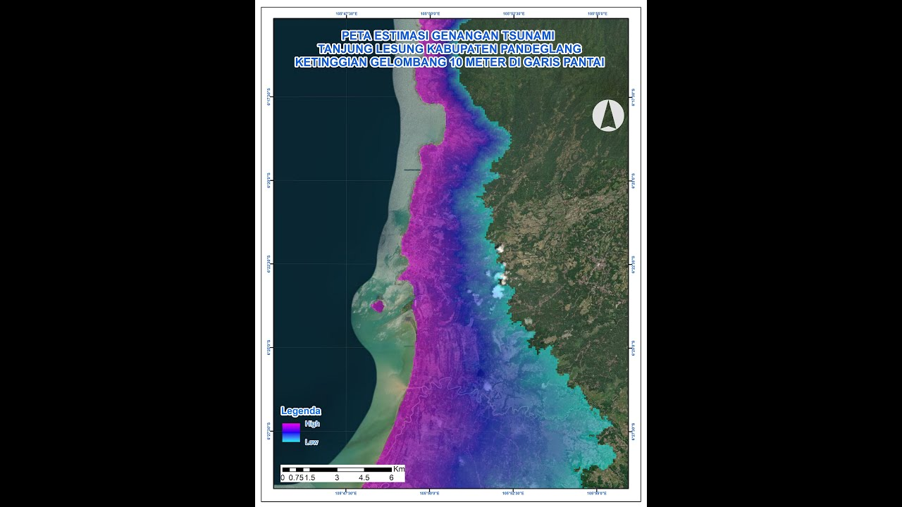 spatial modeling of tsunami inundation using arcgis - Mapvel geospatial