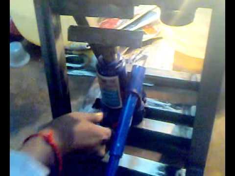 Hydraulic Bending Machine Mechanical Mini Project Youtube