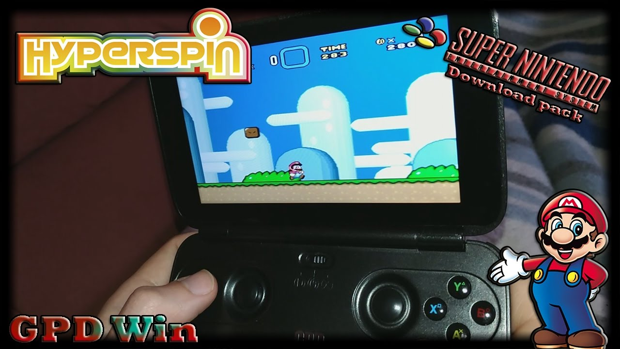 GPD Win (Hyperspin) [Super Nintendo Pack] [Downloads] - YouTube