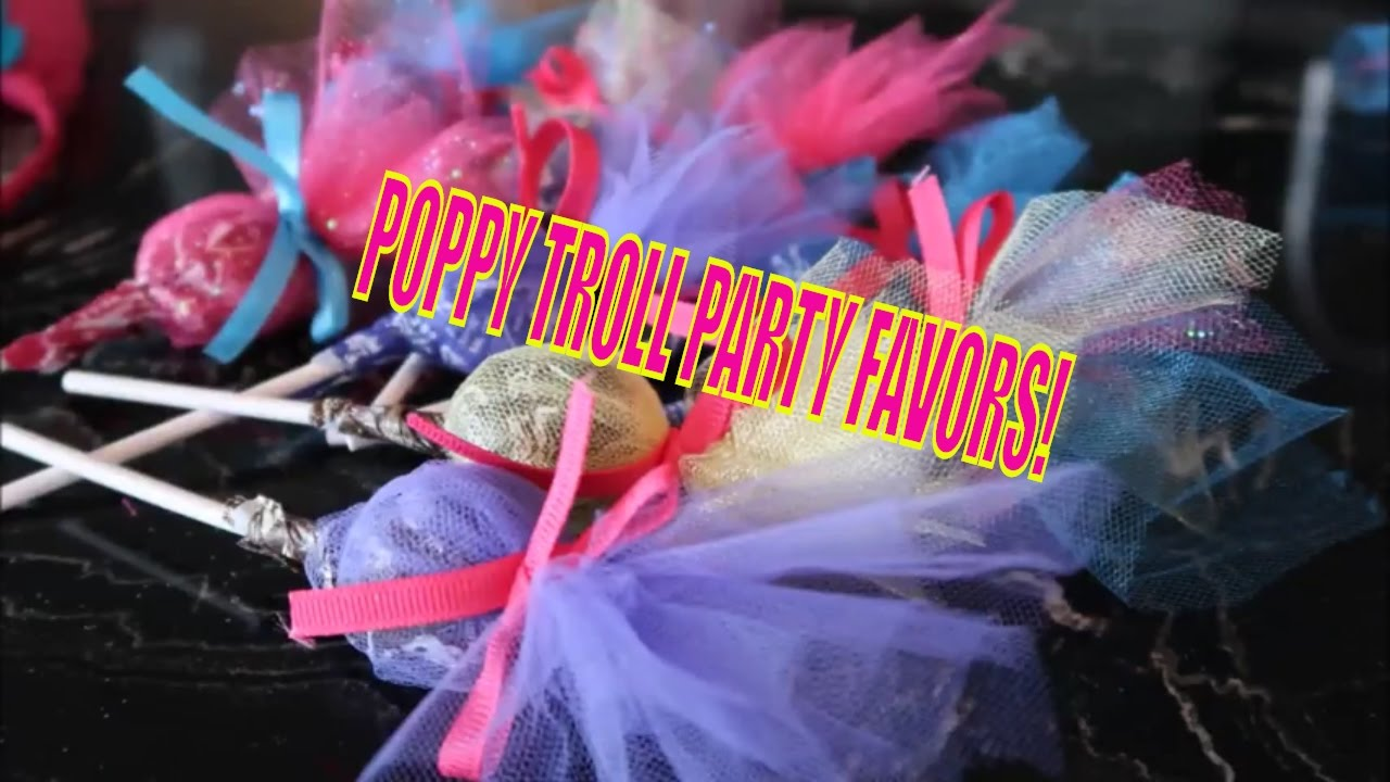 DIY POPPY TROLL PARTY FAVORS SIMPLE FUN EASY CHEAP Perfect For Troll Party
