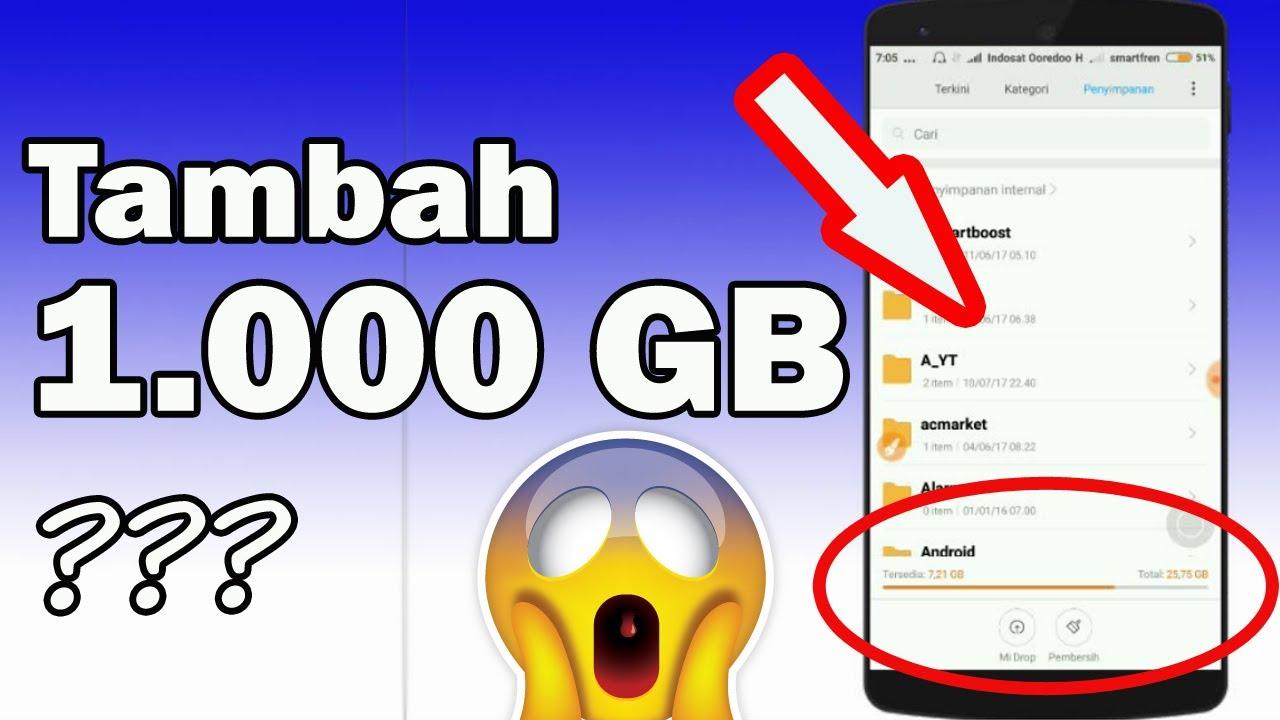 Download Cara Mendapatkan 1.000 GB Penyimpanan GRATIS di Android😱 - NO ROOT