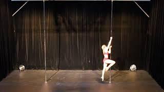 Elodie Evrard - Second Place - Amateur - Belgian Pole Dance Championship 2018