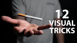 12 VISUAL Cigarette Tricks Anyone Can Do | Revealed
