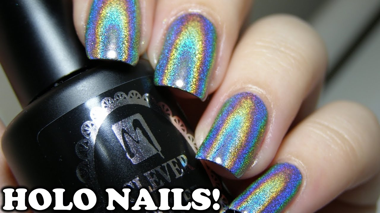 HOLO CHROME NAILS | Harunouta Holographic Powder | With GEL & NAIL ...
