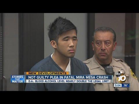 Not guilty plea in fatal Mira Mesa crash