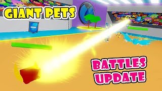 NEW BATTLES UPDATE!! GIANT PETS + NEW MEDALS & GYMS In PET TRAINER SIMULATOR! [Roblox]