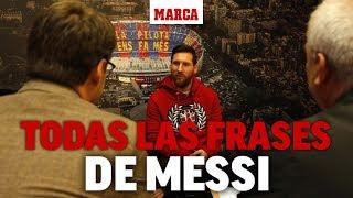 Leo Messi y sus frases a MARCA sobre Cristiano, Neymar, Dembélé, Guardiola...