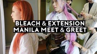Korean Hair Salon: Bleaching + Hair Extensions & Philippines Meet & Greet🇵🇭❤️ | DTV #108