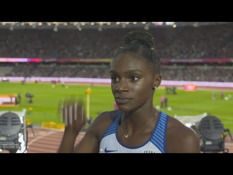 WCH 2017 London- Dina Asher-Smith GBR 200 Metres Heat 5