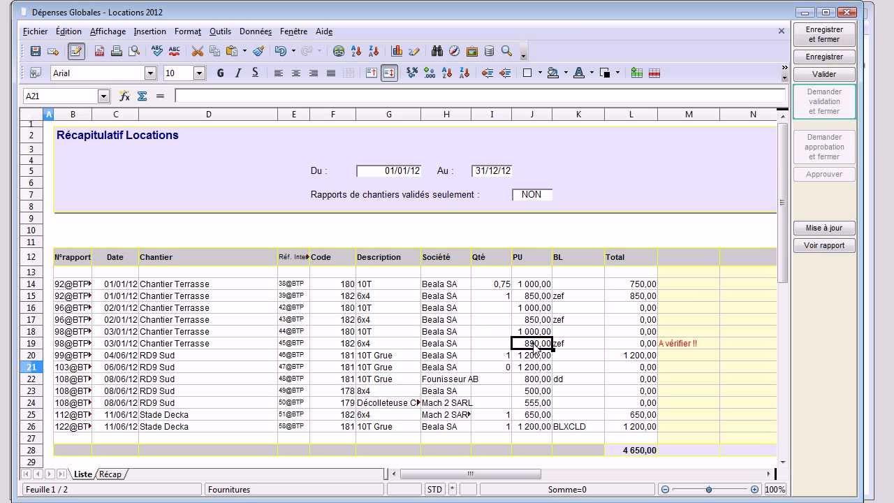 Très Rapports de chantiers : consolidation et analyse - YouTube KT95
