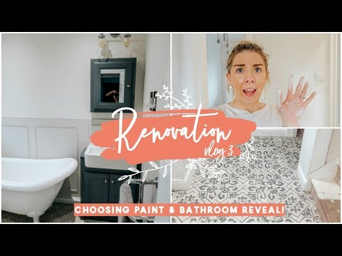 CHOOSING PAINT COLOURS  & BATHROOM REVEAL! | RENOVATION VLOG 3
