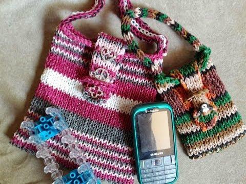 Rainbow Loom Bag Tutorial 2 Sizes With Charms Youtube