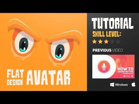 Illustrator Tutorial: Flat design avatar by Swerve™