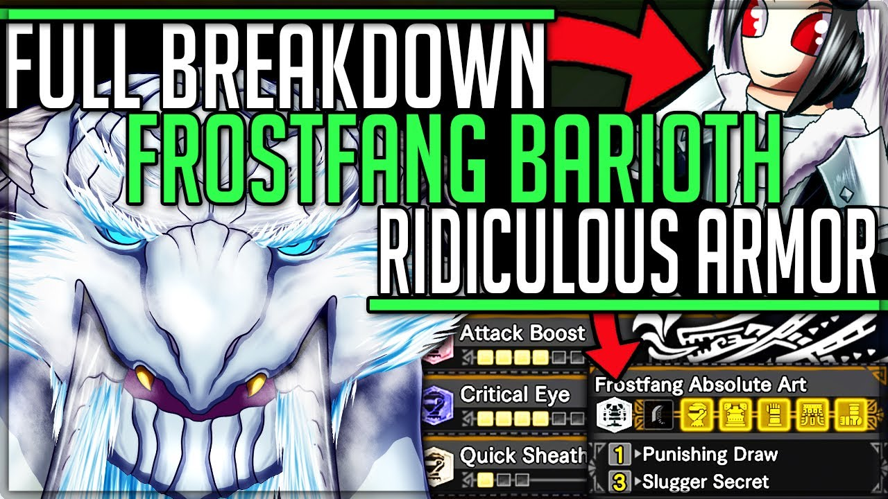 Frostfang Barioth Is Incredible Armor Review Fight Breakdown