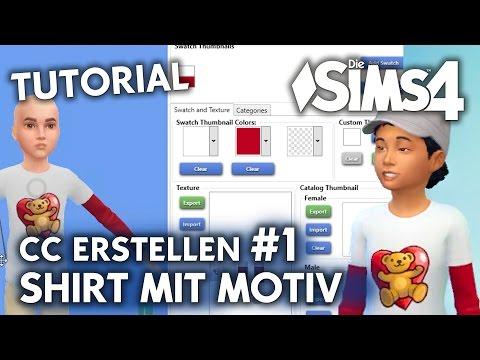 Die Sims 4 Tutorial: CC erstellen #1 | Shirt mit eigenem Motiv  (deutsch)