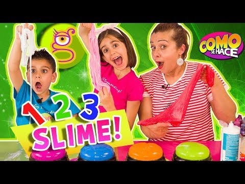 1 2 3 SLIME con CÓMO SE HACE - Un Dos Tres SLIME con MARTA, LARA y NIKO