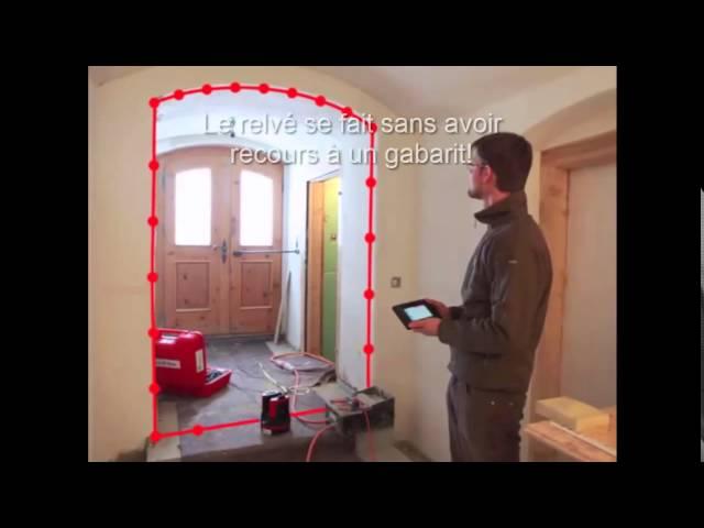 Leica 3D DISTO - Relevé d'une porte cintrée sans gabarit