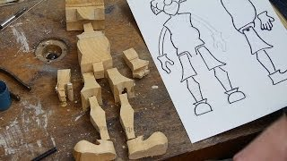 Making Wooden Marionettes - Project 1 - Parts 1 & 2  - How to make wood puppets