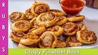Crispy Aloo kay Pinwheel Sandwiches Lunchbox, Tiffin &amp Party Recipe in Urdu Hindi - RKK