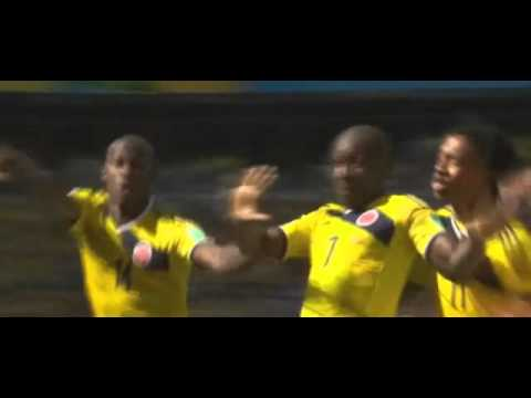 Colombia goal celebration vs. Greece World Cup 2014
