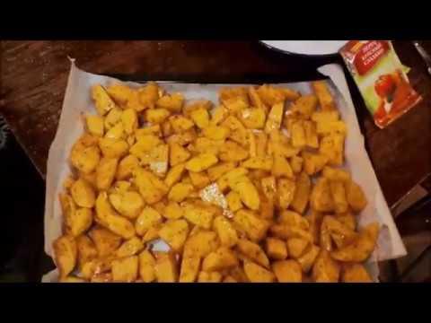 Картошка деревенская в духовке BOSCH.
