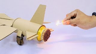 Cool Matches Powered Cardboard Jet