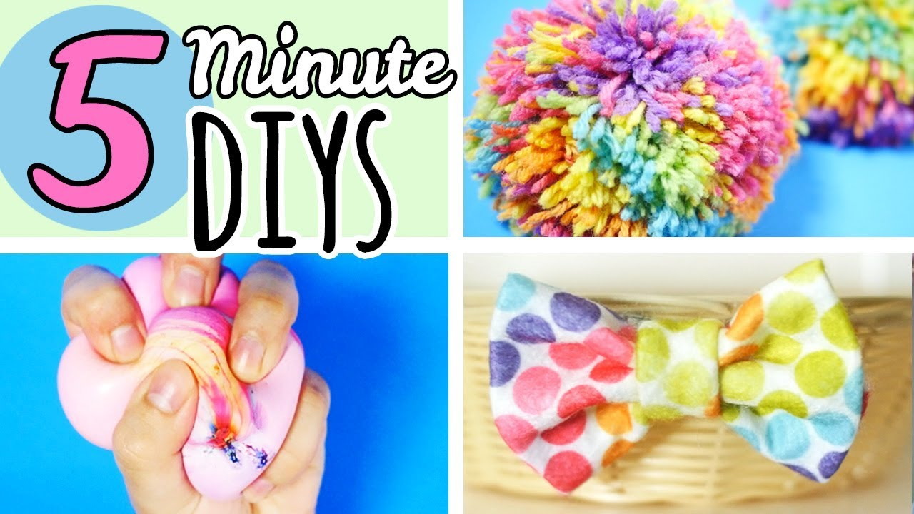5 minute crafts to