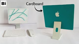 How to Make Apple iMac 2021 from Cardboard