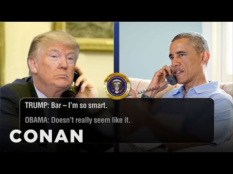 Trump Calls Obama For Valentine's Day Advice  - CONAN on TBS