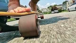 Skateboarding Barefoot