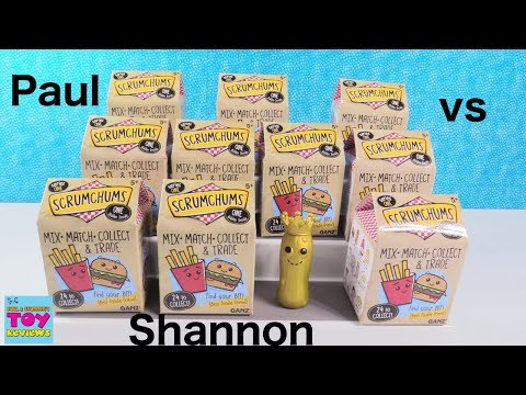 Paul vs Shannon Scrumchums Edition Blind Bag Challenge Toy Review | PSToyReviews