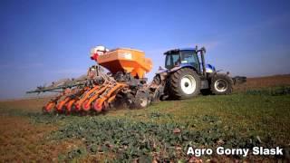 Uprawa pasowa pszenicy na Śląsku - New Holland TG285+Mzuri Pro TiL4T