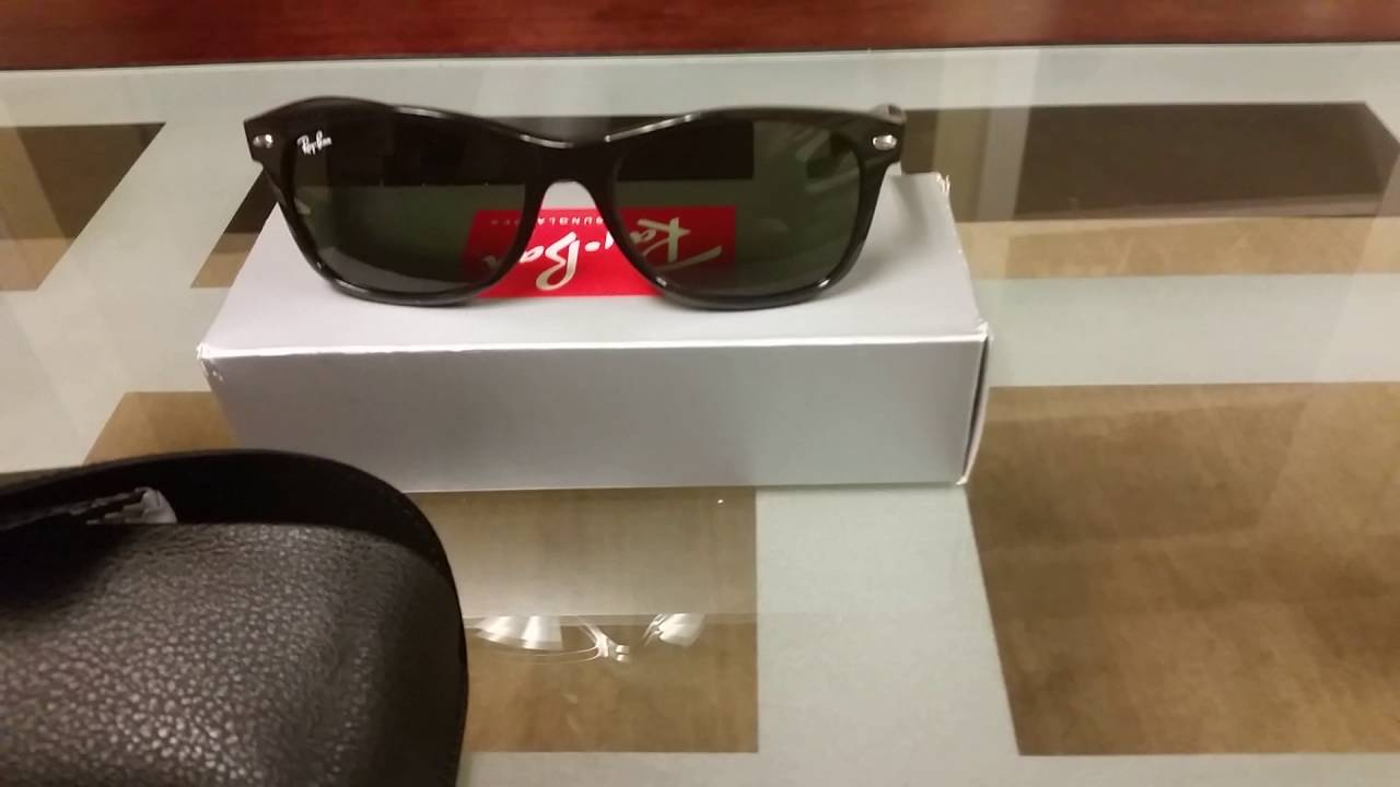 a2285947950 My Ray-Ban RB2132 55mm Wayfarer Sunglasses Review - YouTube