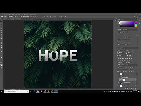 Photoshop Tutorial   Leaf over Text Effect   WISHAH thumbnail