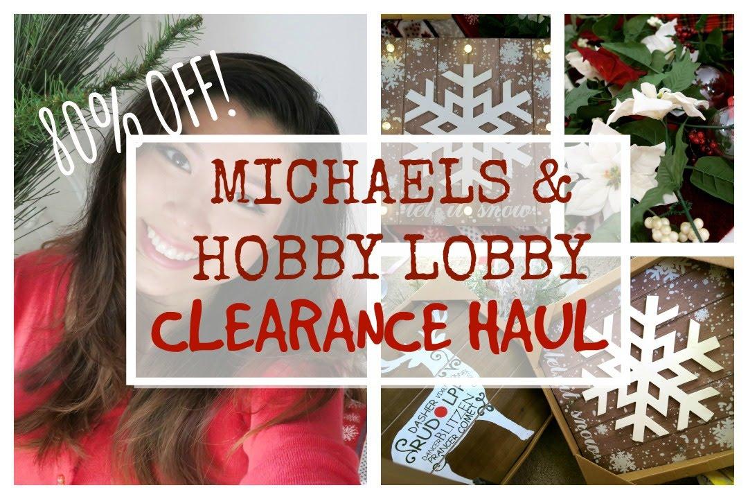 Huge Christmas Clearance Michaels and Hobby Lobby Haul! - YouTube