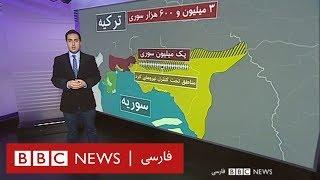 وضعیت جغرافیایی و جمعیتی منطقه تحت کنترل کردها در شمال سوریه