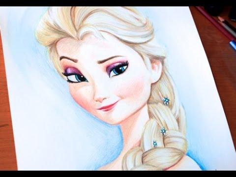 Drawing Princess Elsa Frozen Budget Art Youtube