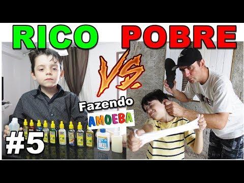 RICO VS POBRE FAZENDO AMOEBA / SLIME #5