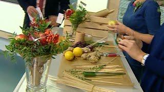 видео Букеты из овощей