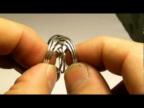 Puzzle Ring Solution 8 Band Silver Ring