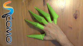 Cómo hacer garras con hojas de papel