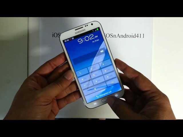How to Hard Reset Password Wipe Factory Restore Samsung Galaxy Note 2 II Tutorial Guide Travel Video