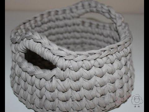 C mo hacer cesta de trapillo laura diy youtube - Como hacer trapillo ...