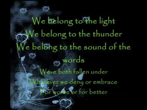 We belong Lyrics