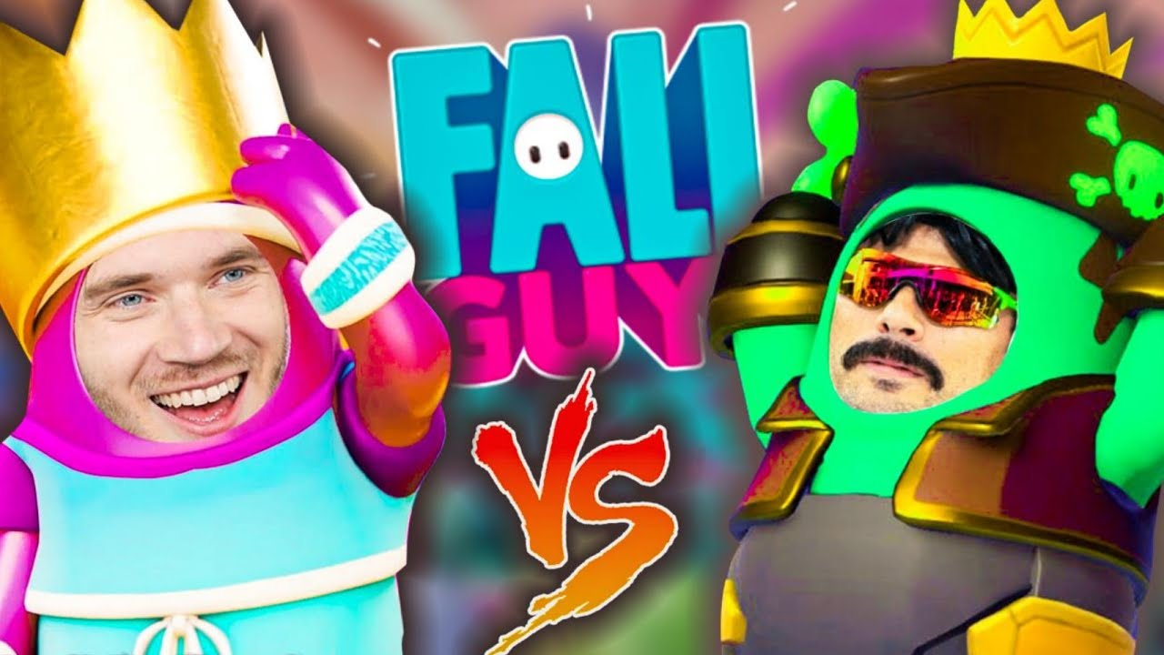 PewDiePie & Dr Disrespect Play Fall Guys! - PewDiePie Highlights #1