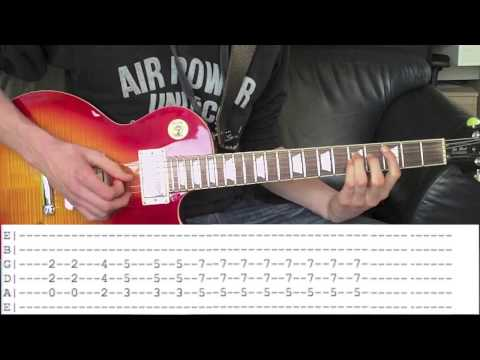 Guns N'Roses - Sweet Child O' Mine Guitar Lesson With Tabs Download!