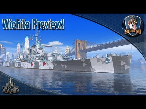 World of Warships: Wichita Preview! WIP USN T8 Cruiser