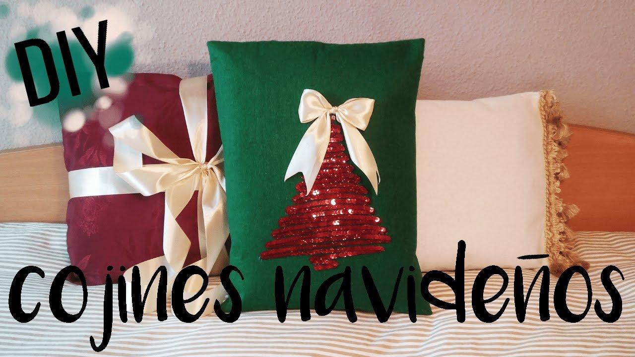 Diy cojines decorativos super f ciles paso a paso - Decorativos de navidad ...